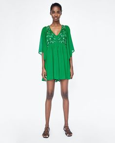 Image 1 of PLUMETIS EMBROIDERED JUMPSUIT from Zara