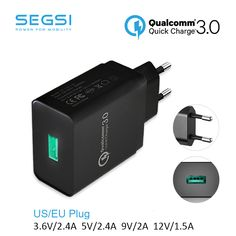 Quick Charge 3.0 USB FAST Wall Charger EU  Plug Qualcomm QC3.0 Mini Auto Travel Charging For Apple iPhone 6s HTC