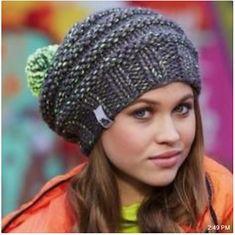 Ravelry: Neon Mix Hat pattern by Schachenmayr Poncho Knitting Patterns, Free Knitting, Knitting Socks, Crochet Patterns, Knit Hats, Crochet Baby, Knit Crochet, Knitted Shawls, Free Pattern