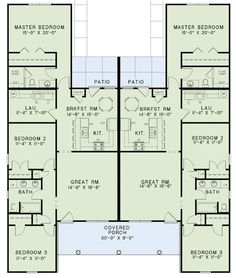 Quadruple wide mobile home floor plans 5 bedroom 3 for Up down duplex floor plans