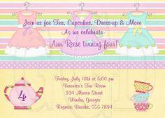 Tea Party Invitation Birthday Dress-up by graciegirldesigns77