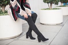 Zara Block Heel Over the Knee Boots styled by Erica Aulds of Erie Nick  www.erienick.com