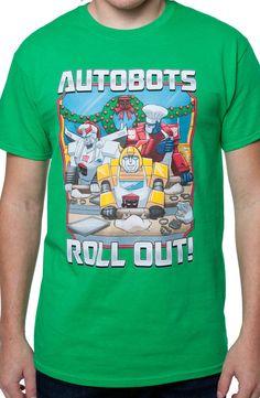 Autobots Roll Out Christmas T-Shirt: Transformers Christmas T-shirt