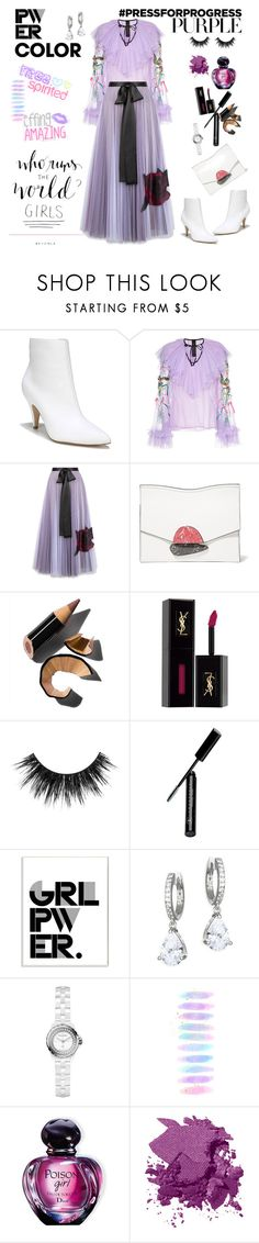 """Happy International Women's Day"" by ellie366 ❤ liked on Polyvore featuring Carlos by Carlos Santana, Romance Was Born, Christopher Kane, Proenza Schouler, Bobbi Brown Cosmetics, Yves Saint Laurent, Anastasia Beverly Hills, Stupell, Kate Spade and Chanel"