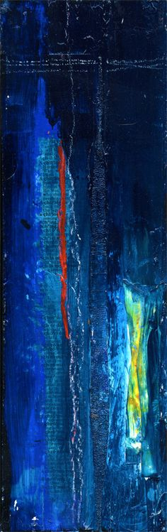 Into The Blue... Original Painting on recycled reclaimed wood by Kathy Morton Stanion