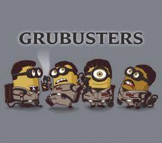 Grubusters – The Minion Ghostbusters Remake. Minion 2, Minion Mayhem, Amor Minions, Minions Quotes, Despicable Me Funny, Funny Minion, Minion Humor, Die Geisterjäger, Minions Despicable Me
