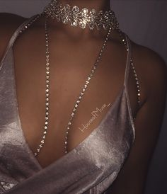 6a84aa564b734 Midas Diamond Bralette Choker Set.  houseofmuse  Diamond Bralette