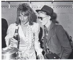 6fb67241131 Rod Stewart and David Bowie In 1975 after Rod s Madison Square Garden  concert.