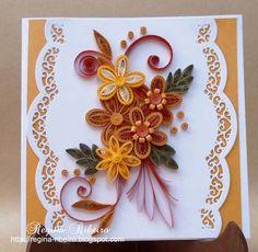 Regina Ribeiro: cartão artesanal em quilling
