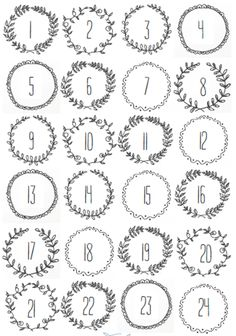 FREE Christmas printables, Stick them to bags or envelopes and hang on a string for a quick and easy Advent Calendar. Advent Calendar numbers to print off. Christmas Calendar, Noel Christmas, Christmas Countdown, Christmas Crafts, Christmas Tables, Nordic Christmas, Modern Christmas, Christmas Stockings, Winter Christmas