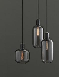 Amp lamp fra Normann Copenhagen. Flotte stilfulde lamper i glas. Kan kun købes i butik. #inspirationdk #NormannCopenhagen #TrendyGray #gray #light
