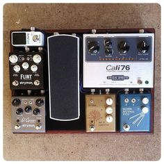 @salvagecustoms' pedal board. Love love love the simplicity of this, and the Strymon goodness, and the board itself of course! :)