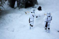 Haha, a snow-vader-man...