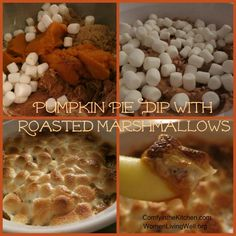 pumpkin pie dip with roasted marshmallows