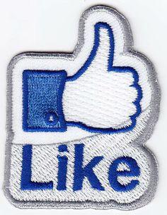 Je zou er bijna meteen op klikken! :-)  Laat zien dat je het allemaal erg leuk vindt. De bekende Like duim staat als embleem supergaaf op je kiel, jas of pet. Afmeting ca 6cm hoog met opstrijk-lijmlaag. http://shop.hedenbosch.nl/a-27961691