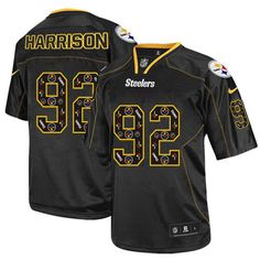 02eb8b0a8fa Nike Game Mens Pittsburgh Steelers #92 James Harrison New Lights Out Black  NFL Jersey$79.99