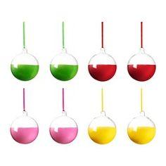 SNÖMYS decoratie, bal, diverse kleuren Diameter: 8 cm