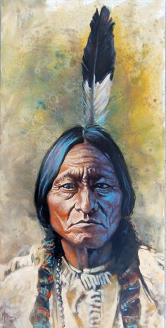 Sitting Bull...huile sur toile 15x30 Pastel Gras, Sitting Bull, Sculpture, Painting, Canvases, Leaded Glass Windows, Oil On Canvas, Artists, Painting Art