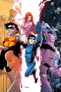 Invincible vol Happy Days Comic Book Characters, Comic Character, Comic Books Art, Comic Art, Book Art, Invincible Comic, Comic Book Layout, Alternative Comics, Best Superhero