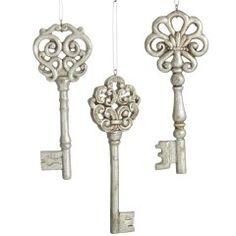 Hang skeleton keys as wind chimes
