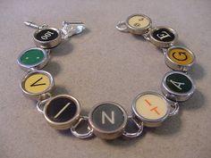 Typewriter key jewelry Bracelet  Spells VINTAGE  by magiccloset, $42.00