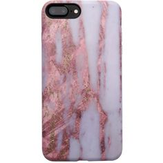 Marble Case for iPhone 8 Plus 7 Plus Dusted Rose ($29) ❤ liked on Polyvore featuring accessories and tech accessories