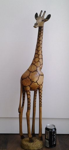 Giraffe Statue, Tall, Wood, Hand Carved, Out of Africa, Beautiful Carving from an Unknown Artist from Zimbabwe, Africa by NinsWildCreations on Etsy