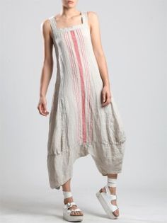szarawary doszyte do sukienki - Lilly is Love Diy Clothes, Clothes For Women, Boho Fashion, Fashion Outfits, Bohemian Mode, Lookbook, Striped Linen, Linen Dresses, Mode Style