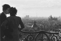 Les Amoureux de la Bastille, 1957 byWilly Ronis