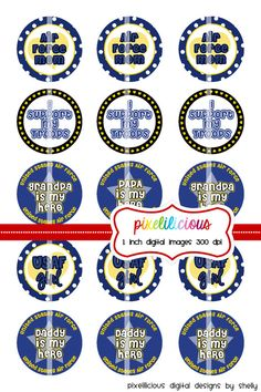 Bottle Cap Image Sheet  Instant Download  USAF 3 by pixelilicious