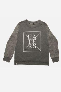 Mini and Maximus No Haters Crew Sweatshirt