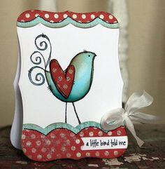 Cute bird stamp