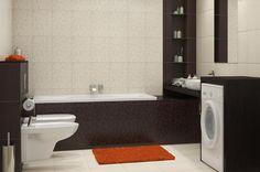 Aranżacja łazienki wystrój klasyczny w kolorach brąz, beż - projekt wnętrza #6563644, Homplex