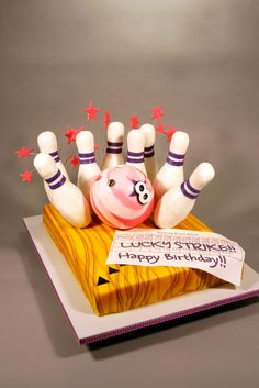 Pink Bowling Birthday Party