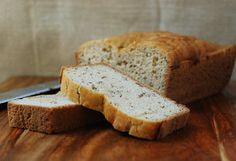 Paleo Herb Bread - I have made this and it is delicious. I recently added roasted garlic to the mix to make a garlic herb paleo bread. Best Paleo Bread Recipe, Bread Recipes, Quiche, Whole Food Recipes, Cooking Recipes, Muffins, Grain Free Bread, Herb Bread, Pizza
