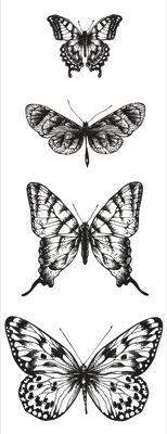 Texture - Butterflies Clear Stamp
