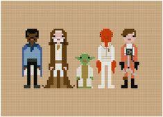 Pixel People Star Wars Allies PDF par weelittlestitches sur Etsy