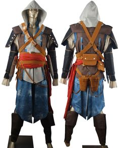 Assassin's creed 4 iv black flag Edward kenway cosplay costume anime video game outfit hoodie fancy make-up costume halloween costume pre-made or custom-tailored. http://www.oscostume.com/assassins-creed-4-iv-black-flag-edward-kenway-cosplay-costume-hoodie/