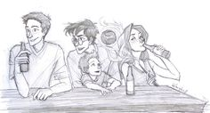 the way i see it, Harry and Ginny would be all into bets. so, when it came to Teddy, Harry would claim that Ted would be a Seeker when he grew up. Ginny would argue of course, that he'd be a Chaser. it didn't enter either of their Quidditch-addled minds that he wouldn't play at all (which he doesn't, in my head). here, Ginny is boosting her chances of being right with Harry's attention elsewhere.