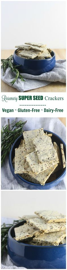 These Gluten-Free Rosemary Super Seed Crackers are healthy and delicious! http://www.laurenkellynutrition.com