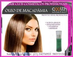 07HC141 *MACADâMIA,* óLEO DE 1P 90ML COOLTH *http://hairclub.loja2.com.br/6908630-MACADAMIA-OLEO-DE-1P-90ML-COOLTH-07HC141* O *óLEO DE MACADâMIA* é indicado para todos os tipos de cabelos, especialmente para enrolados e cacheados. Sendo rico ...