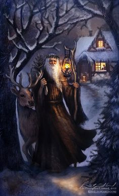 The Holly King (the Hermit) - Green Witch Tarot