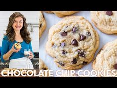 The Best Soft Chocolate Chip Cookies - big, loaded with melty morsels of chocola. The Best Soft Chocolate Chip Cookies – big, loaded with melty morsels of chocolate and soft for d Best Chocolate Chip Cookies Recipe, Chip Cookie Recipe, Chocolate Chip Cookie Dough, Chocolate Cookies, Chocolate Recipes, Cookie Recipes, Chocolate Chips, Köstliche Desserts, Delicious Desserts