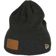 New Era Ribbed Patcher Beanie grau ★★★★★