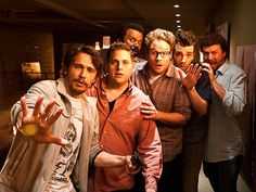 James Franco, Jonah Hill, Seth Rogen Craig Robinson Jay Baruchel and Danny McBride in 'This Is the End'