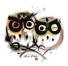 Owls artwork Pinned by www.myowlbarn.com