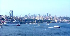 istanbul | cruise ship (left) and Seabus (right) on the Bosphorus in Istanbul ...