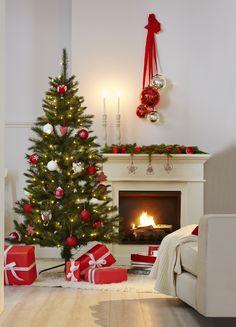 #Weihnachten klassisch mit rot-weisser #Dekoration bei #Tchibo
