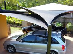 For high-quality custm shade sails and shade structures for patios, carports, pools & playgrounds Australia wide, contact Global Shade. Deck With Pergola, Pergola Patio, Pergola Plans, Pergola Kits, Pergola Ideas, Patio Ideas, Carport Ideas, Carport Garage, Pergola Cover
