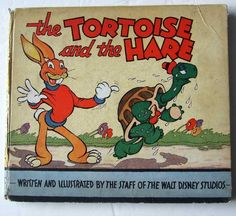 The Tortoise and the Hare Written and Illustrated by the Staff of the Walt Disney Studios Publisher: Dean and Son, London, c.1935. Bound in pictorial paper covered boards, the illustration the same on both the front and back. With nine full-page colour illustrations and twelve full page line drawn plates, plus three line drawn vignettes. This is a very lively telling of the fable of the tortoise and the hare, with sparky illustrations in the typical Disney style. 22.5 cm tall by 26.5 cm…